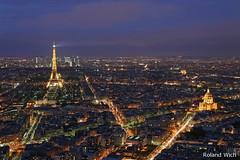 Paris - Night view from Tour Montparnasse (Rolandito.) Tags: paris france tower night tour eiffel invalides dome defense ecole militaire montpansasse