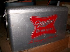 Aluminum Miller Beer Cooler (Uncle Atom) Tags: vintage cooler