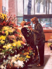 Flower Shop (Robin L Anderson) Tags: pink flowers blue red orang