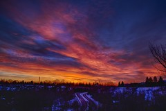 February Sunrise to my Lament! (John Andersen (JPAndersen images)) Tags: red orange calgary night clouds sunrise cloudy alberta canon6d cloudsstormssunsetssunrises ◆challengeclub◆ jpandersenimages canonef2470f28iiusm
