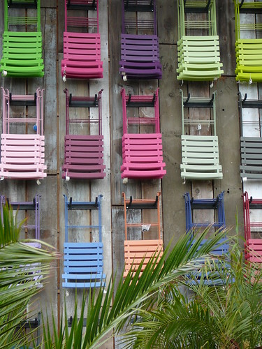 Flora Grubb Nursery Wall of Chairs, Photo by Colleen Baptista