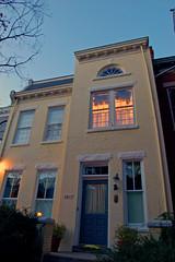 1617 Park Avenue (taberandrew) Tags: morning house yellow sunrise virginia fan exterior richmond va maison matin italianate richmondcity