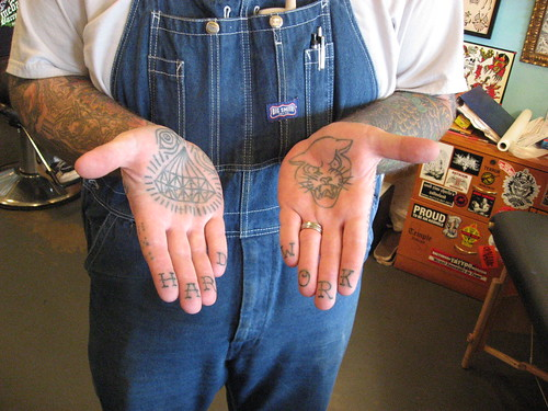 diamond tattoos on fingers. Palm and Finger Tattoos