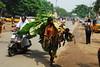 Ayudha Pooja (Velachery Balu) Tags: flowers chennai plaintain velachery pori velacherybalu thoranam ayudhapooja plaintainleaf maavilai