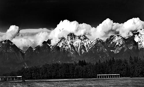 Alpes Julianos en Blanco y Negro