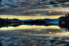 ~Iron sky~ (T1ger) Tags: sunset reflection water norway clouds landscape natur trondheim hdr vann sj naturesfinest