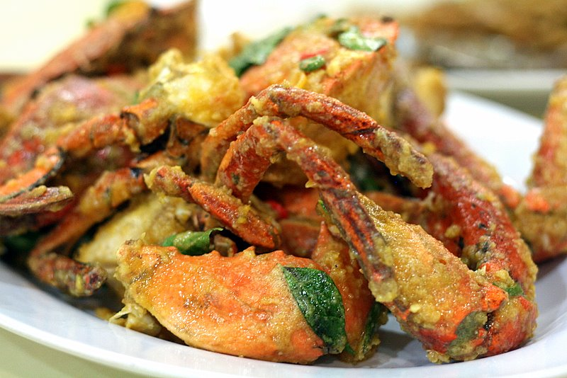 salted egg yolk crabs