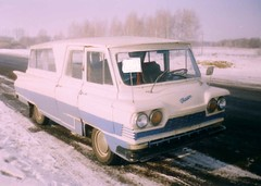 GAZ CTAPT snow front 3/4 (the new trail of tears) Tags: start gaz visit soviet zil 1961 minibus ussr eisenhower ctapt