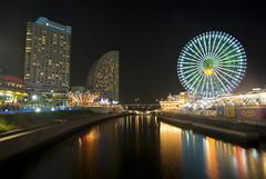 Yokohama Minato mirai 21 (akiko@flickr) Tags: light shiny review nightview yokohama cosmoworld minatomirai21 cosmoclock21 pentaxk10d