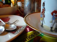 WE  Paris, chez J-M & L (cocoinzenl) Tags: plate spoon porcelaine vaisselle assiette cuillre cueillre