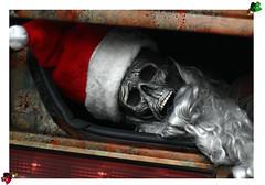 Christmas Cancelled (Espinal Photography) Tags: christmas xmas dead skeleton skull navidad esqueleto trunk santaclaus cadaver muerto sannicolas saintnicholas ef50mmf14usm vaul papnoel canonrebelxti brokenbulbs unanavidadcancelada christmascancelled