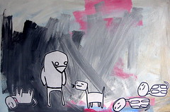 penguin and dino-dog painting (starheadboy) Tags: painting penguin starhead starheadboy slightlynorth