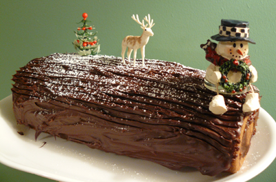 Chocolate Hazelnut Yule Log
