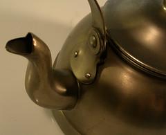 Vintage European Pewter Tea Kettle