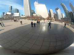 Reflections in the bean 2 (Missy Luick) Tags: christmas family chicago millenniumpark luick