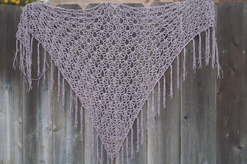 Crocheted Sweet Pea Shawl