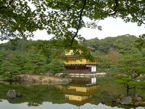 Kinkakuji el pabellón dorado de Kyoto