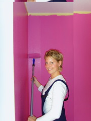 PINK INFERNO !!! (BineBluete) Tags: pink hot colour art rose wall work painting fun happy paint purple flat jane wand rosa lila colourful augen farbe wohnung umzug violett einrichtung streichen rolle arbeiten pinsel happieness wandfarbe spacetaxi colourartaward