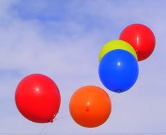 Way up High (JancyLI) Tags: blue red orange colors yellow balloons flying colorful flight wichita smörgåsbord anawesomeshot colorphotoaward beautifulcaptureaward ultimategold oursupershots theperfectphotographer flickrelites