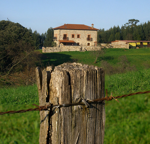 Post and House in Focus