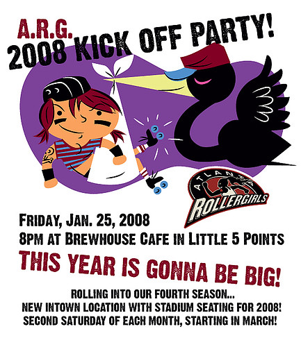 Atlanta Rollergirls 2008 Kick Off Party at Brewhouse Cafe