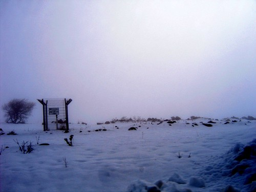 Snow in The Golan