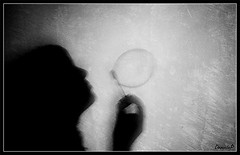 BUBBLE ( Daniele Porceddu ) Tags: shadow bw mood fabulous artlibre aplusphoto artlibres bwartaward