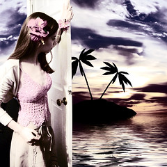 37/365 (Laura D McBryde) Tags: door sea woman selfportrait laura flower cute water girl composite female photoshop hair island hawaii pretty d edited skirt palmtrees brunette effect aloha petite flowerinhair bolero mcbryde pinktop