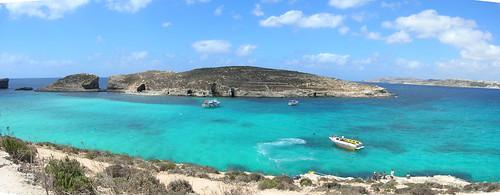 Panorama foto van de Blue Lagoon