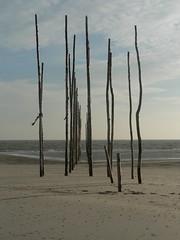 Poles in the sea (saarling) Tags: netherlands waddenzee vlieland waddeneiland pole poles wad friesland vliehors
