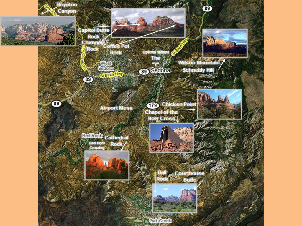 Sedona area printable maps – Sedona Tourist Map