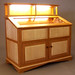 Cherry and Curly Maple Display Cabinet