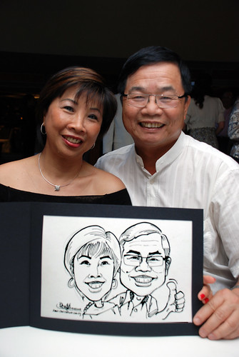 Caricature Christopher Tan 60th birtyhday party 4