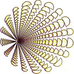 Graphic peacock (Marco Braun) Tags: white art yellow circle square gelb squaredcircle ilusion blanche weiss endless cercle carré optic quadrat kreis opart unendlich optische täuschung