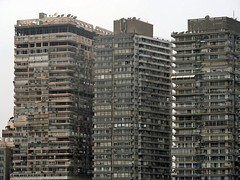 Blocks of flats. Cairo, Egypt (Daniel Kliza) Tags: house home architecture skyscraper grey place skyscrapers live egypt dirty flats cairo blocks slums 5photosaday