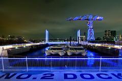 Blue Dock (Ballet Lausanne) Tags: blue light night geotagged tokyo d300 lalaport toyosu lalaporttoyosu geo:lat=356552644 geo:lon=1397919169