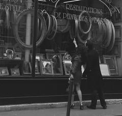 paris (pirateofcake) Tags: street woman man paris store frames legs heels widow parisian