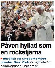 Påven rockstjärna