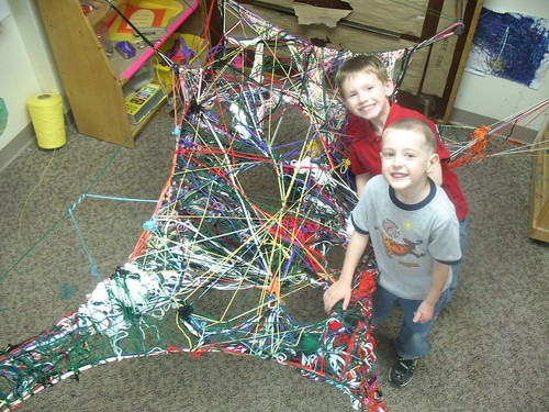 weaving a web at preschool by you.