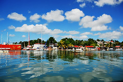 Sunny day in Guadeloupe (jendayee) Tags: blue trees sea sky house clouds boats nice fisherman day sunny reflexion guadeloupe abigfave platinumphoto anawesomeshot worldwidelandscapes natureselegantshots grouptripod