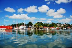Sunny day in Guadeloupe (jendayee) Tags: blue trees sea sky house clouds boats nice fisherman day sunny reflexion guadeloupe abigfave platinumphoto anawesomeshot worldwidelandscapes natureselegantshots grouptripod