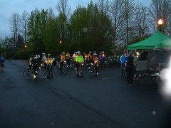 Riders gather in the Grand Lodge parking lot