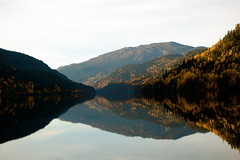 As in a painting of Gude (mortsan) Tags: autumn reflection norway season norge fjord scandinavia gude nasjonalromantikk norefjorden
