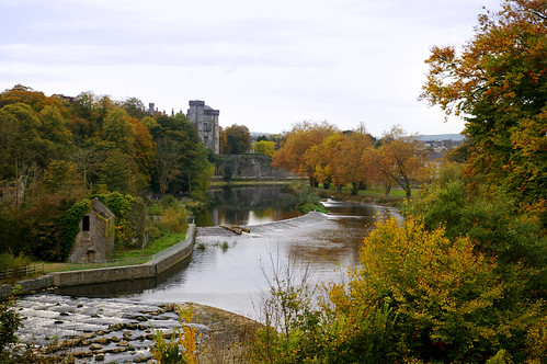 A view of Kilkenny Castle from Wind Gap