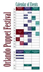 Orlando Puppet Festival 2007 Calendar