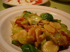 Brussels sprouts with orecchiette