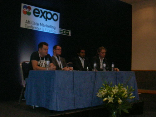Meet the Super Affiliates panel. Net Media Planet's Sri Sharma is second from right.