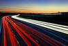 Being driven round the bend (Corica) Tags: uk longexposure greatbritain sunset england wideangle lighttrails staffordshire m6 chesterfield lichfield traffictrails m6toll corica