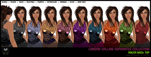 [MG fashion] London Calling Separates Collection - Racer back tops