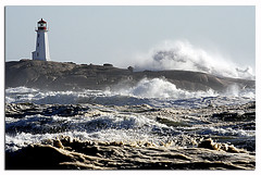 ~The Stand~ (~NovaStorm~) Tags: sea lighthouse storm water rocks waves novascotia noel peggyscove tropicalstorm novastorm megashot lighthousetrek